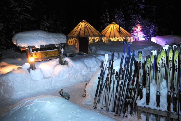 Rental Skis and Snowshoes are available at the 'Yurt Camp'